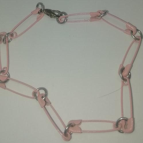 Bracelet - Pink Safety Pins