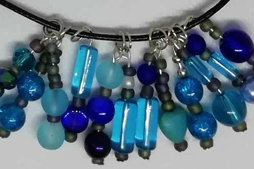 Necklace - Lots of Blue Beads
