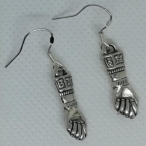 Earrings Silver-Coloured Gauntlets