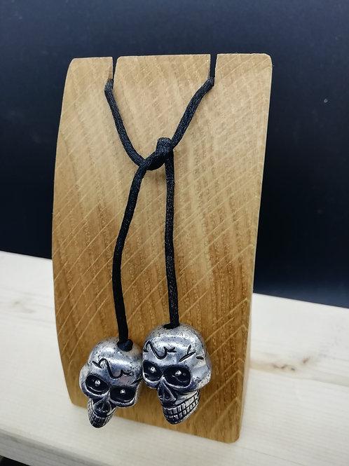 Simple Skull Black Hair Tie