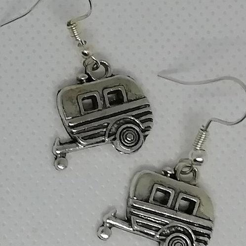 Earrings - Silver-Coloured Caravans