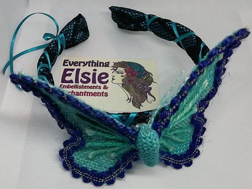 Headband- Blue Butterfly