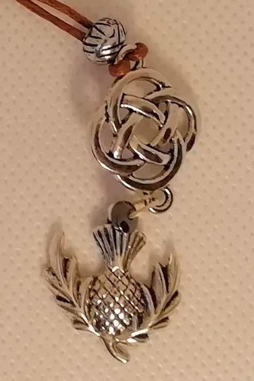 Necklace - Celtic Design and Thistle