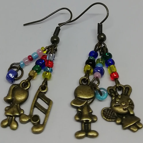 Earrings – Beaded Characters