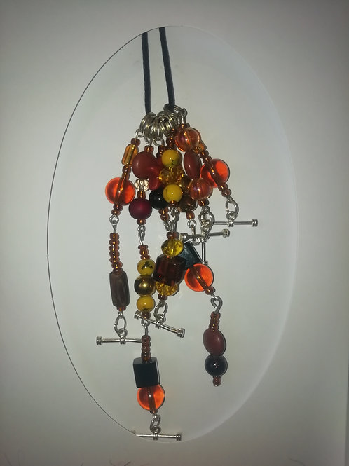 Necklace - Brown Yellow Beads