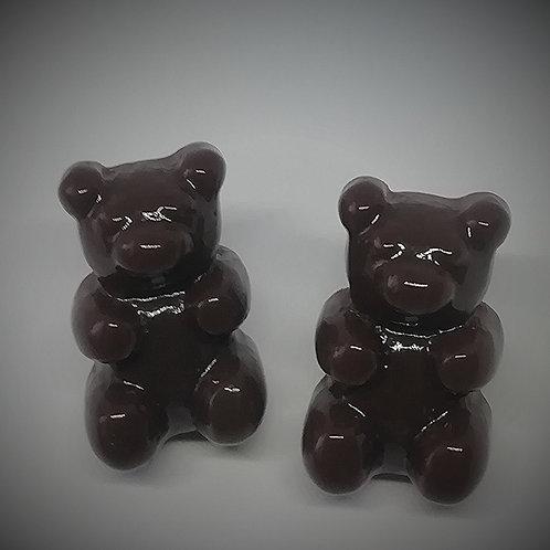 Earrings - Chocolate Teddies
