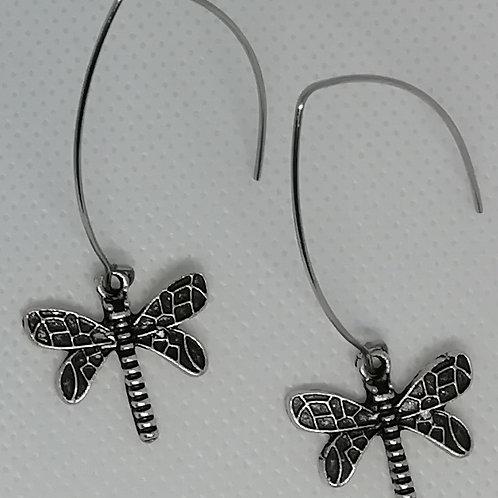 Earrings - Long Dragonflies