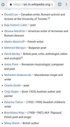 Writers with gypsy roots 2