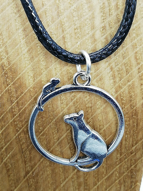Necklace - Cat in Circle
