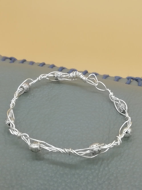 Viking Knit Wire Bracelet Twisted