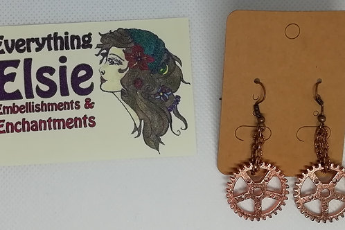 Earrings - Copper Cogs