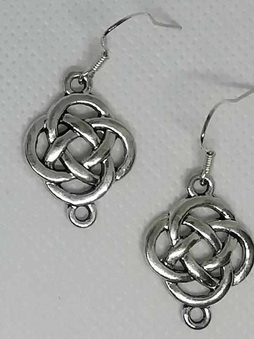 Earrings - Silver-Coloured Celtic