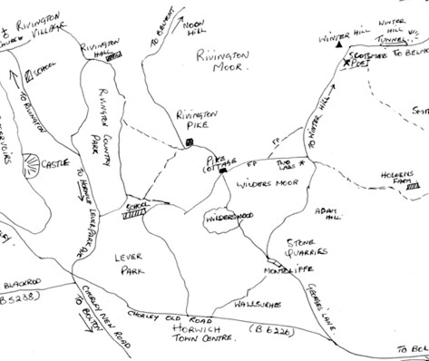 Winter Hill area map