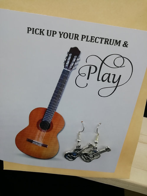 Card - Pick Up Your Plectrum Electric Guitar