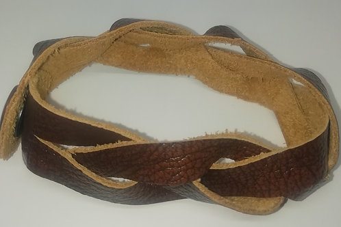 Bracelet - Leather Plaited