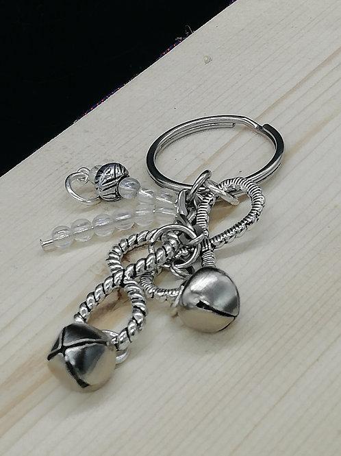 Keyring - Silver Look Infinity Bell