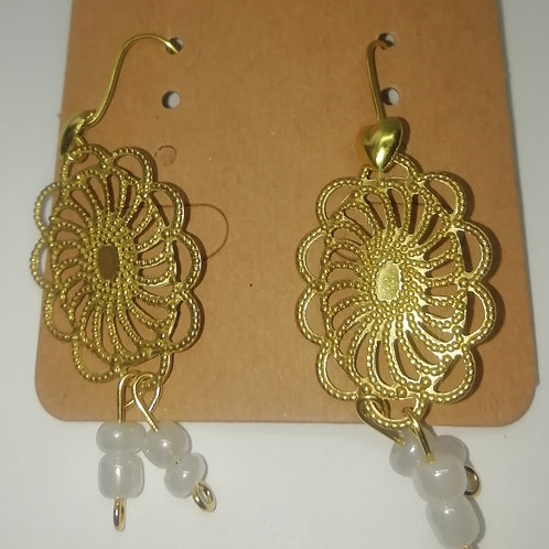 Earrings - Filigree Bead