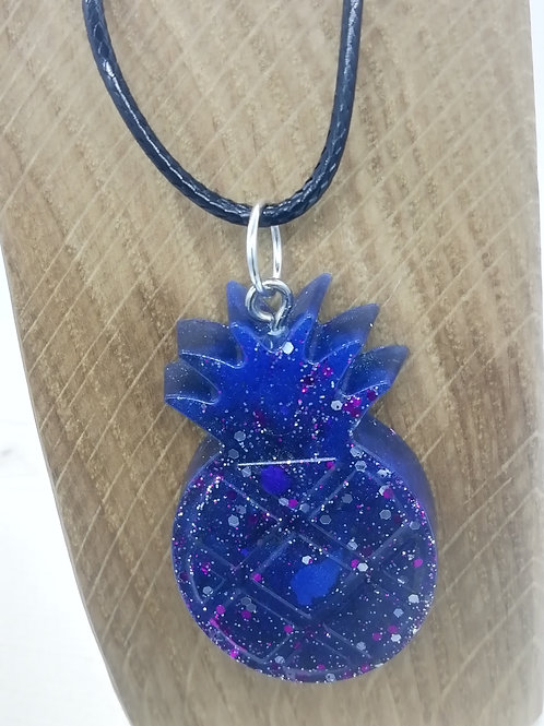 Necklace - Indigo Blue Pineapple