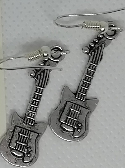 Earrings Silver-Coloured Electric Guitars