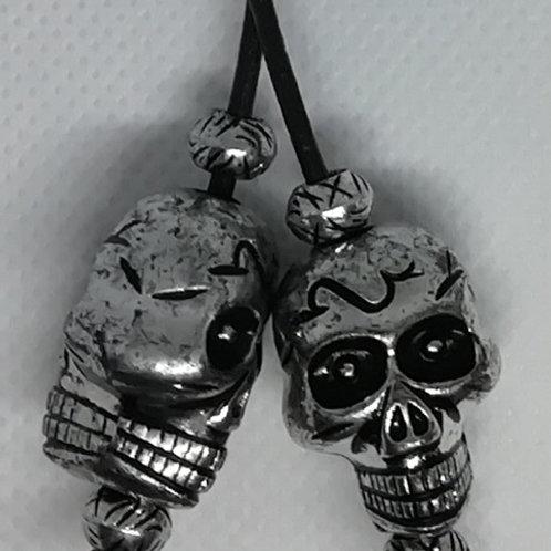 Necklace - Light Silver-Coloured Skulls