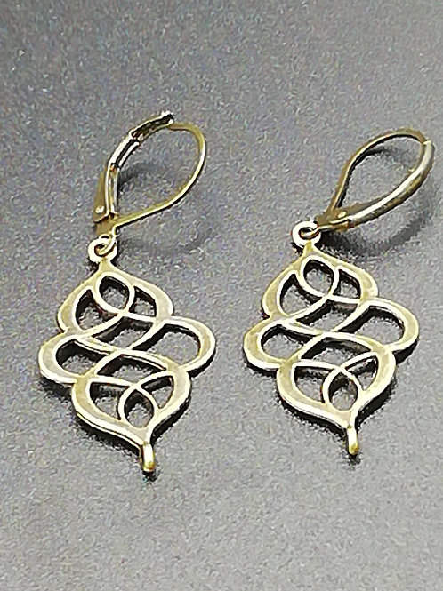Earrings - Brass Swirls