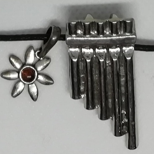 Necklace - Panpipes and Flower