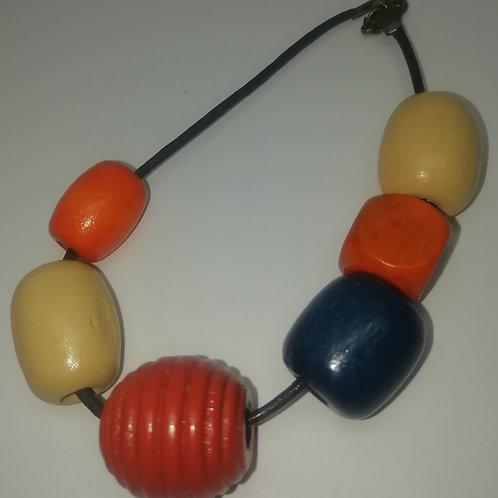 Bracelet - Big Orange Beads