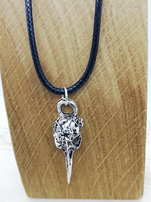 Necklace - Silver Bird Skull