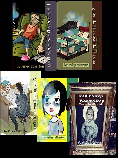 Five volumes of 'Can't Sleep, Won't Sleep'