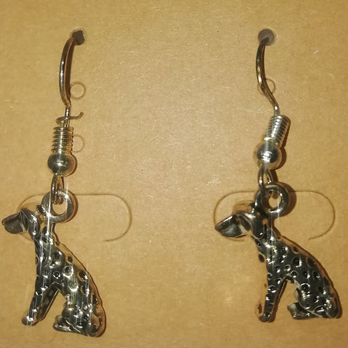 Earrings - Large Spotty Dog