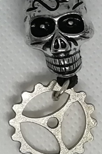 Necklace - Light Skull and Cog