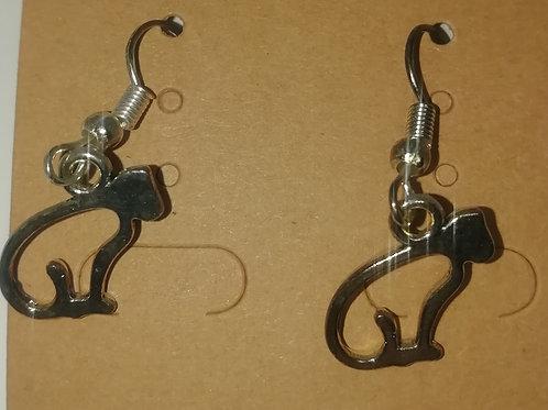 Earrings - Cat Outline