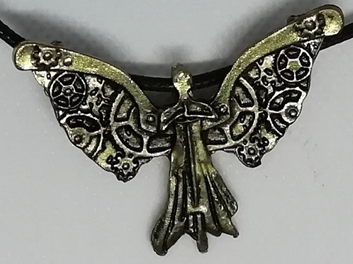 Necklace - Antique Brass Guardian Angel