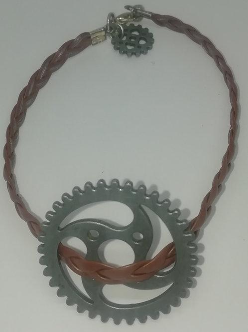 Bracelet - Simple Plait and Cogs