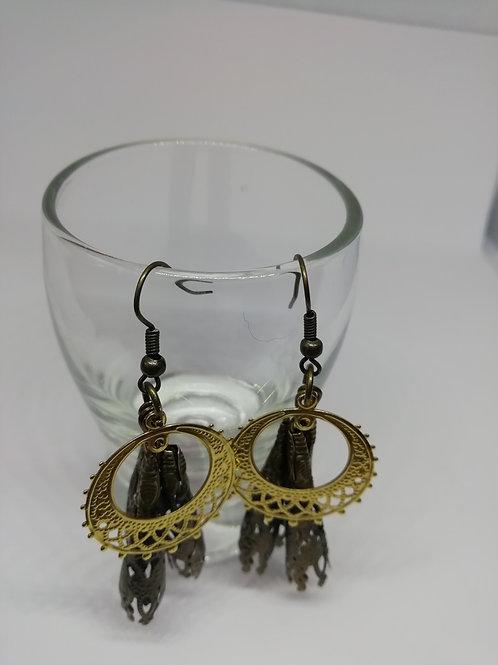 Earrings – Cones and Filigree