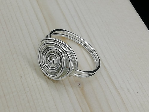 Ring - Viking Large Silver Rosette