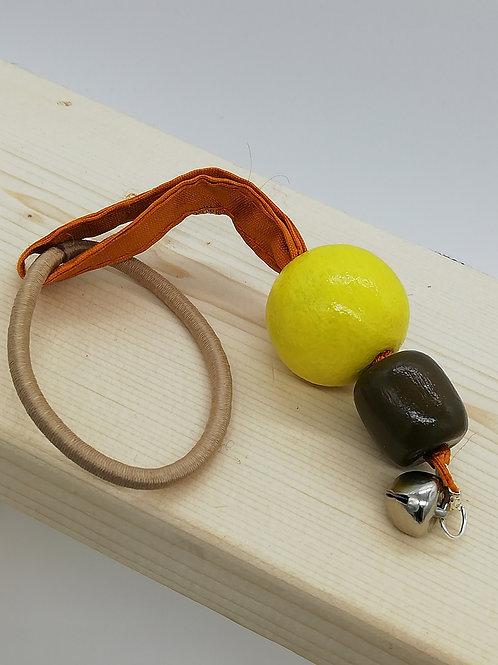 Hair Elastic Bobble - Orange, Yellow, Brown