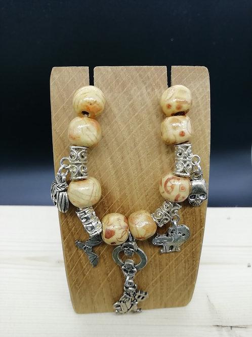 Necklace - Halloween Wooden Bead