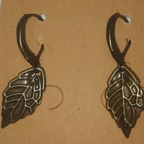Earrings - Antique Bronze Leaves