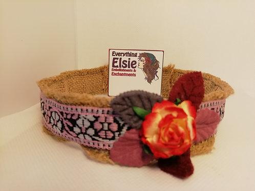 Headband - Hessian Alice Band Pink Braid