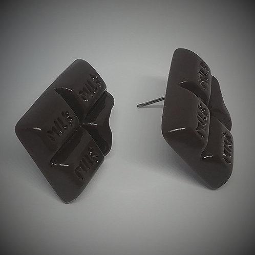 Earrings - Bitten Bar of Chocolate