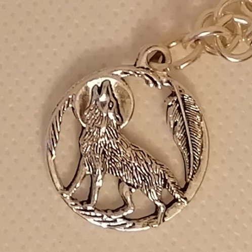 Necklace - Chain with Wolf Pendant