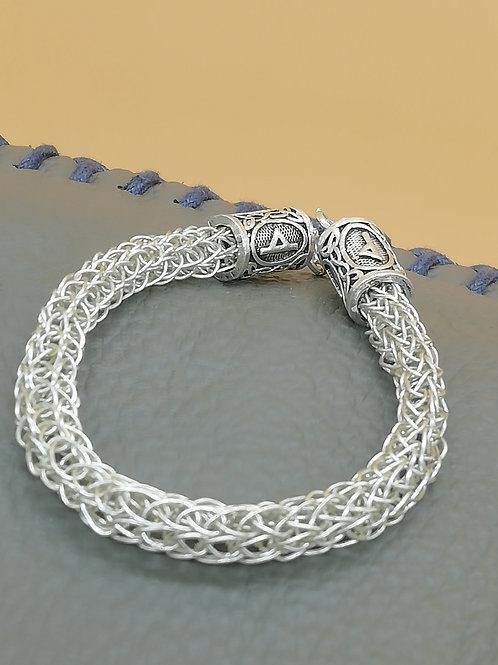 Viking Knit Wire Bracelet Chunky Small