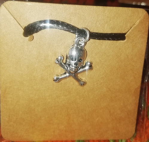 Necklace - Skull above Bones