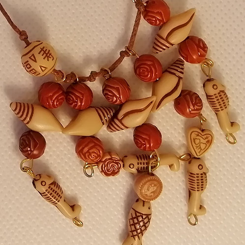 Necklace - Brown Beach Beads