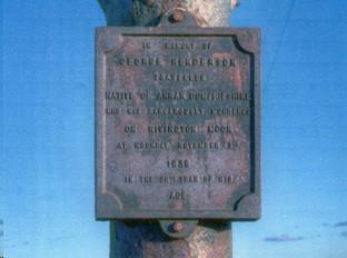 Winter Hill memorial plate