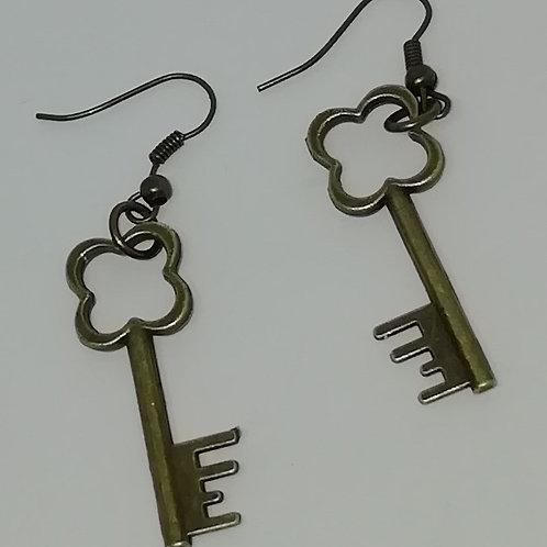 Earrings – Brass Keys