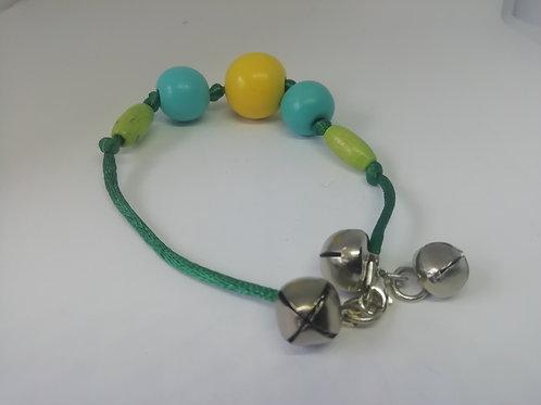 Bracelet - Green Blue Bells