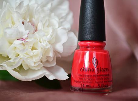 Лето на ногтях. China Glaze #Hot Flash