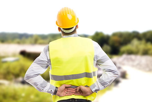 Injured construction worker or engineer